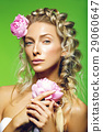 Beautiful girl with peony flower 29060647