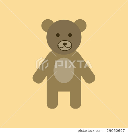 flat icon stylish background cartoon bear 29060697