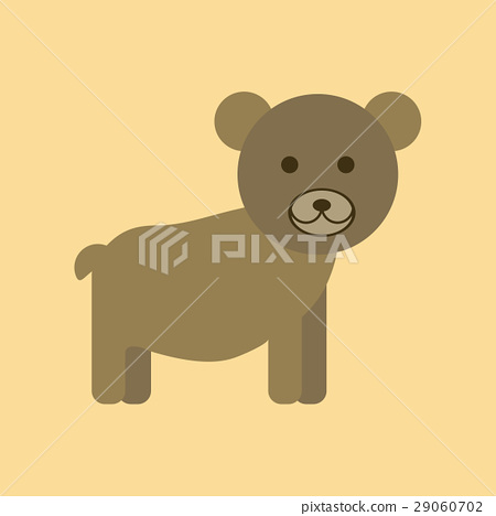flat icon stylish background cartoon bear 29060702