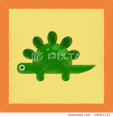 flat shading style icon cartoon dinosaur 29061133