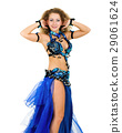Belly dancer isolated on a white background 29061624