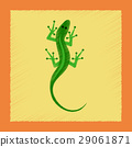 flat shading style icon lizard reptile 29061871