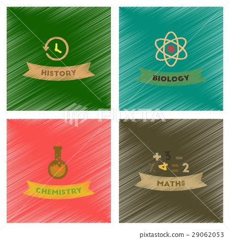 assembly flat shading style icons school history 29062053