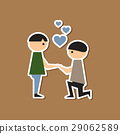 paper sticker on stylish background of homosexual 29062589