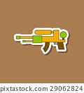 paper sticker on stylish background Kids toy water 29062824