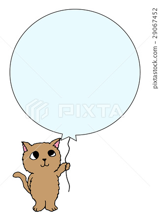 Cat with a balloon 29067452