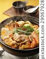 泡菜火鍋 鍋裡煮好的食物 用鍋烹飪 29067928