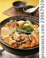泡菜火鍋 鍋裡煮好的食物 用鍋烹飪 29067929