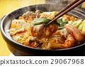 泡菜火锅 锅里煮好的食物 用锅烹饪 29067968