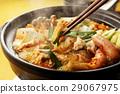 泡菜火鍋 鍋裡煮好的食物 用鍋烹飪 29067975