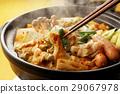 泡菜火鍋 鍋裡煮好的食物 用鍋烹飪 29067978