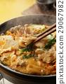 泡菜火鍋 鍋裡煮好的食物 用鍋烹飪 29067982