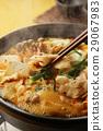 泡菜火鍋 鍋裡煮好的食物 用鍋烹飪 29067983