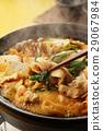 泡菜火锅 锅里煮好的食物 用锅烹饪 29067984
