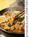 泡菜火鍋 鍋裡煮好的食物 用鍋烹飪 29067985