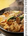 泡菜火鍋 鍋裡煮好的食物 用鍋烹飪 29067989