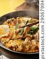 泡菜火鍋 鍋裡煮好的食物 用鍋烹飪 29067994