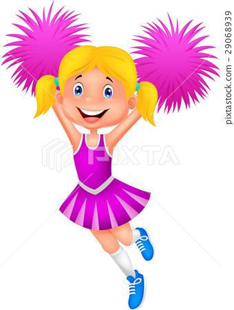 Cheerleader with Pom Poms 29068939