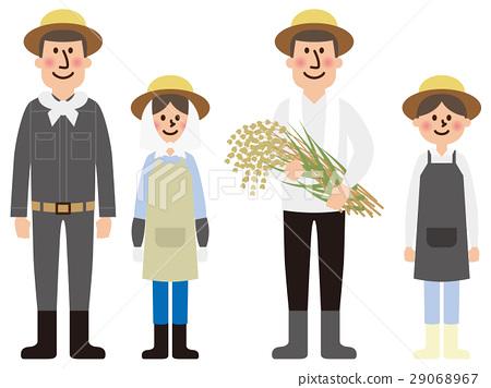 쌀 농가 벡터 29068967
