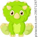 Cute triceratops cartoon 29071297