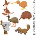 Australian animal cartoon 29071315
