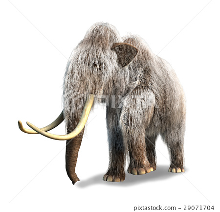 Photorealistic 3 D rendering of a Mammoth. 29071704