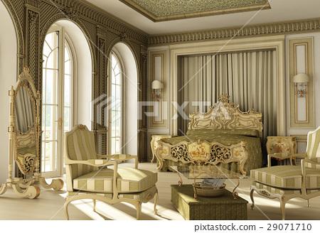 Luxury rococo bedroom 29071710
