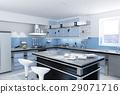 Modern kitchen with isle. 29071716