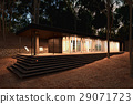 Modern wood House in the forest. 29071723