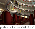 Classic Theater interior, with chair rows in the foreground. 29071751