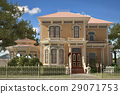 Luxury Victorian style house exterior. 29071753