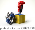 Boxing glove coming out from a gift box 29071830