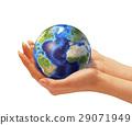 earth, globe, hand 29071949