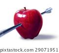 Red apple pierced by an arrow. 29071951