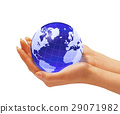 Woman's hands holding the earth globe. 29071982