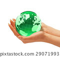 globe, hand, holding 29071993