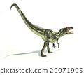Allosaurus Dinosaurus, photorealistic representation, dynamic posture. 29071995