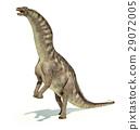 Photorealistic representation of an Amargasaurus dinosaur. Dynamic posture. 29072005
