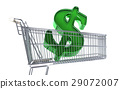 Supermarket trolley with big Dollar sign inside it. 29072007
