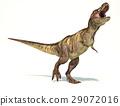 Tyrannosaurus Rex dinosaur, photorealistic representation. Dynamic view. 29072016