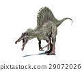 Spinosaurus dinosaur. Isolated on white, clipping path included. 29072026