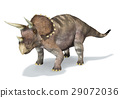 Photorealistic 3 D rendering of a Triceratops. 29072036