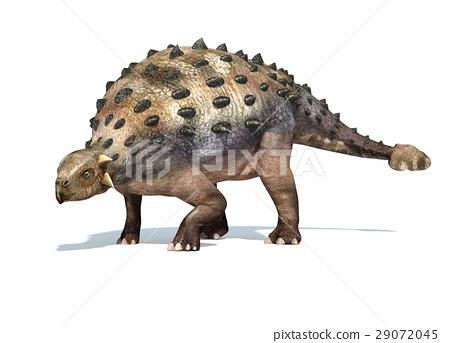 Photorealistic 3 D rendering of an Ankylosaurus. 29072045