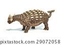 Ankylosaurus Dinosaur photorealistic representation. Dynamic posture. 29072058