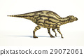 Maiasaura dinosaur, young child, photorealistic representation. Side view. 29072061