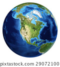 Earth globe, realistic 3 D rendering. North America view. 29072100