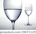 Two glasses half filled of water. 29072129