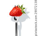 Strawberry on fork. 29072138