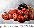 Red apples group, coming out from a Wooden bucket 29072204