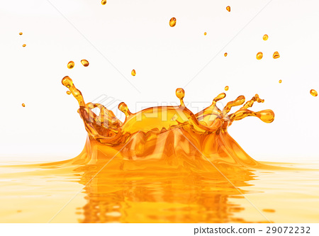 Clear Orange juice splash close up. 29072232